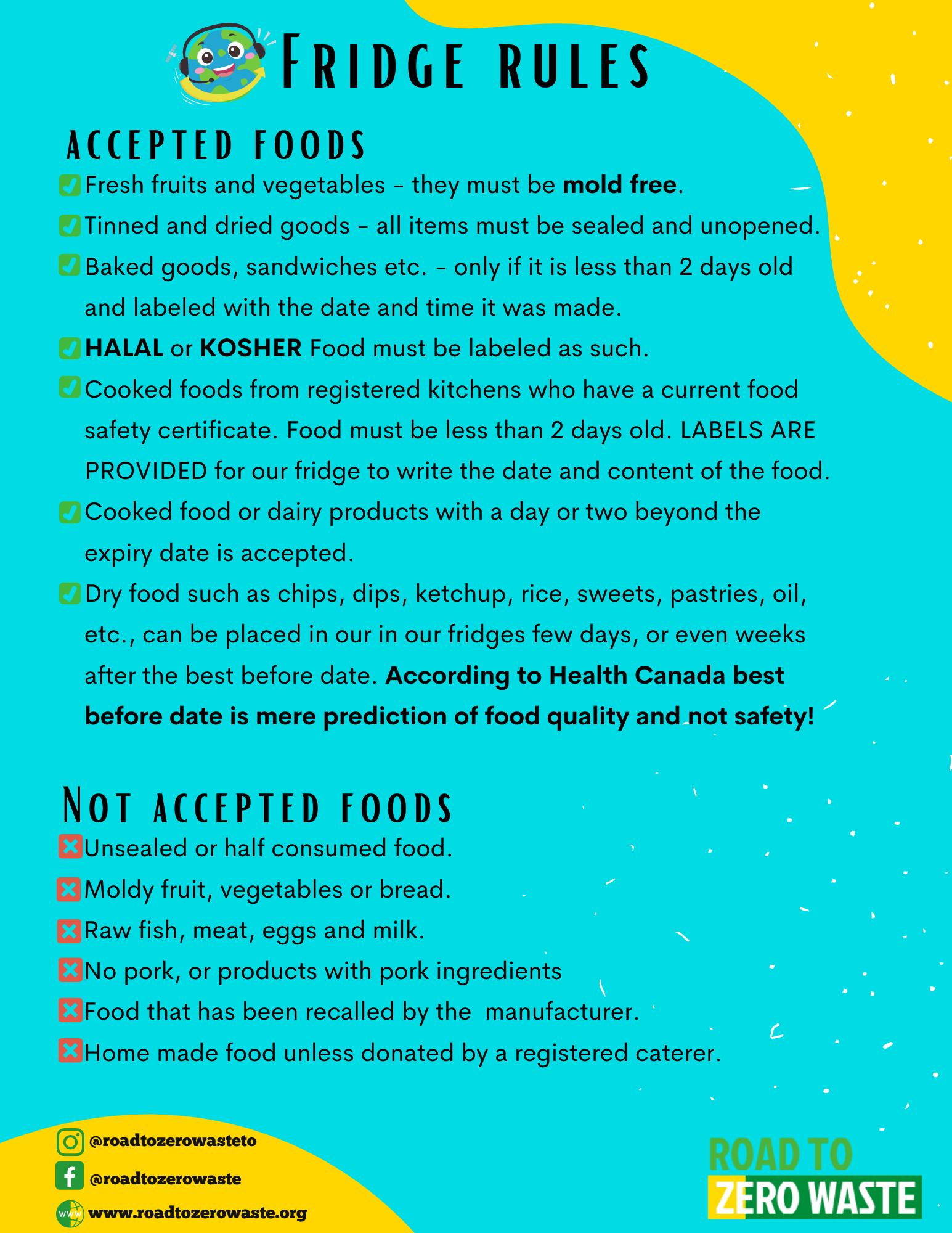 Community Food Fridge Guidelines